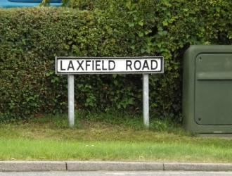 Laxfield Road sign