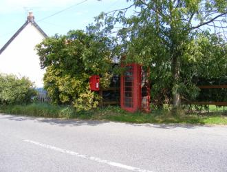 Phone box and post box distance