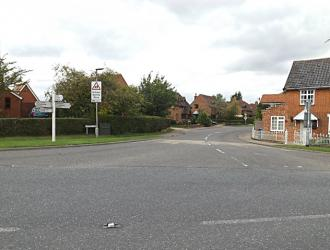 Start of Laxfield Road